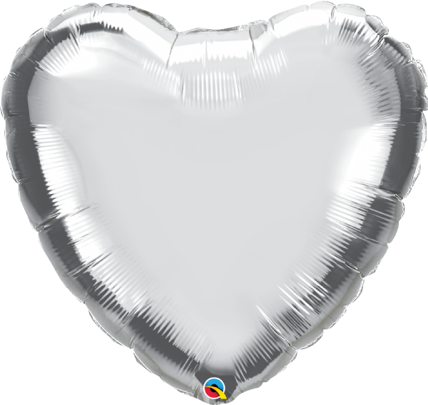 Jumbo Personalised Heart - Silver